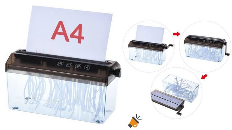 trituradora destructora manual papel documentos a4 barata1 SuperChollos