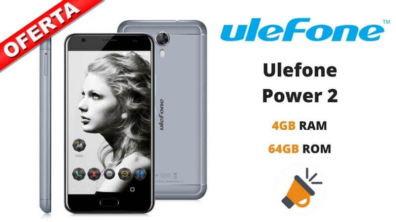 oferta ulefone power 2 4gb 64gb smartphone barato SuperChollos