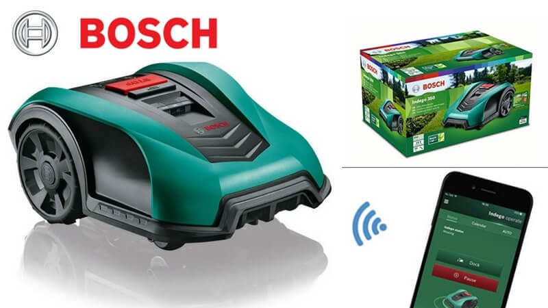 oferta cortacesped Bosch Indego 350 Connect barato SuperChollos