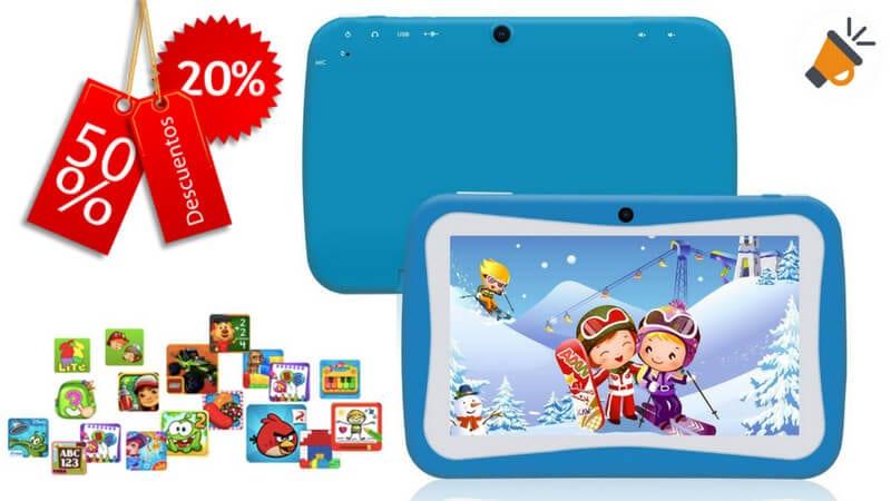 oferta Kivors Tablet para Nin%CC%83os barata chollo amazon SuperChollos