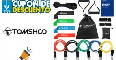 oferta TOMSHOO Juego de 17 Bandas Ela%CC%81sticas Fitness baratas SuperChollos