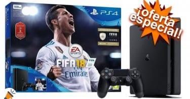 oferta PS4 500GB FIFA 18 CONSOLA barata1 SuperChollos