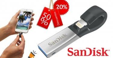 oferta Sandisk iXpand Memoria flash USB barata SuperChollos