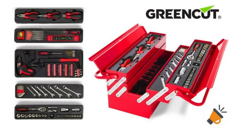 oferta Greencut TOOLS 118 Set de herramientas barato SuperChollos