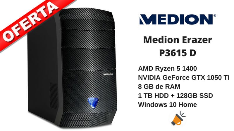 oferta Medion Erazer P3615 D barato SuperChollos