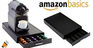 oferta Cajo%CC%81n organizador para ca%CC%81psulas de Nespresso Amazon Basics barato SuperChollos