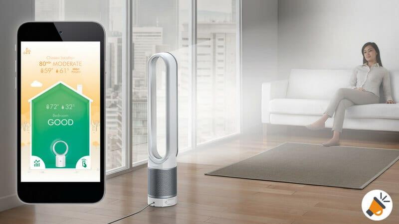 oferta Dyson Pure Cool Link Ventilador purificador de torre barato SuperChollos