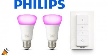 OFERTA Philips Hue White and Color Ambiance Pack de 2 bombillas baratas SuperChollos
