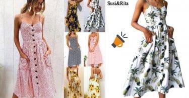 oferta Vestido de tirantes Susi Rita barato SuperChollos