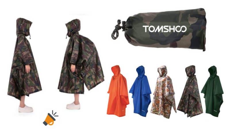 oferta TOMSHOO Poncho de Lluvia barato SuperChollos