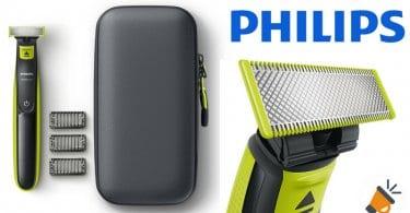 oferta Philips OneBlade Pack de recortador de barba barato SuperChollos