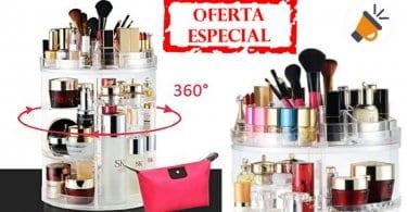 oferta Organizador de maquillaje giratorio barato SuperChollos
