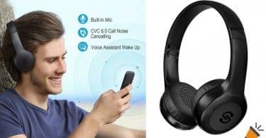 oferta SoundPEATS Auriculares Diadema Inala%CC%81mbricos baratos SuperChollos