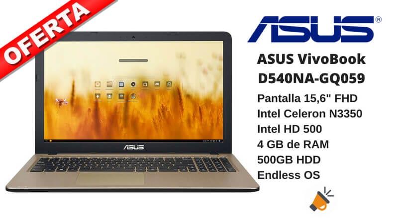 OFERTA ASUS VivoBook D540NA GQ059 barato SuperChollos