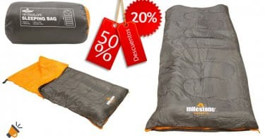 oferta oferta Saco de dormir rectangular Milestone Camping barato barato SuperChollos
