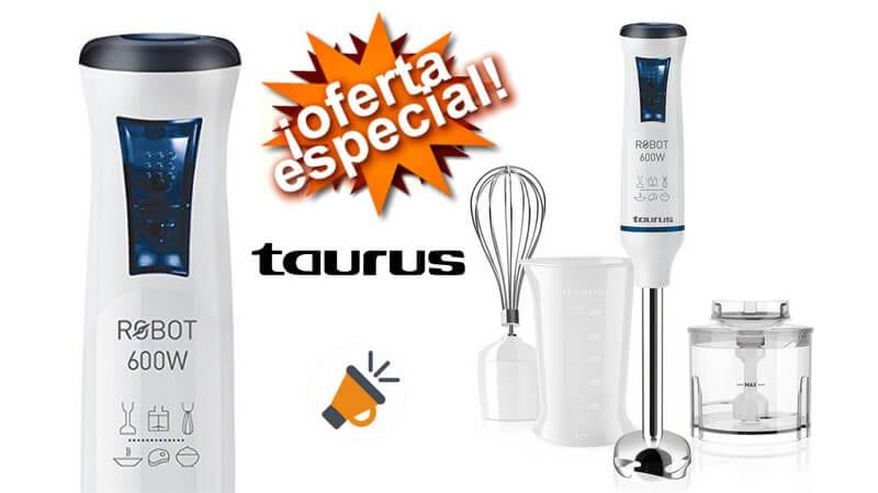 oferta Taurus Robot 600 Plus Inox Batidora de mano barata SuperChollos
