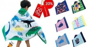 oferta Decdeal Nin%CC%83os Toalla de Playa con Capucha barata SuperChollos