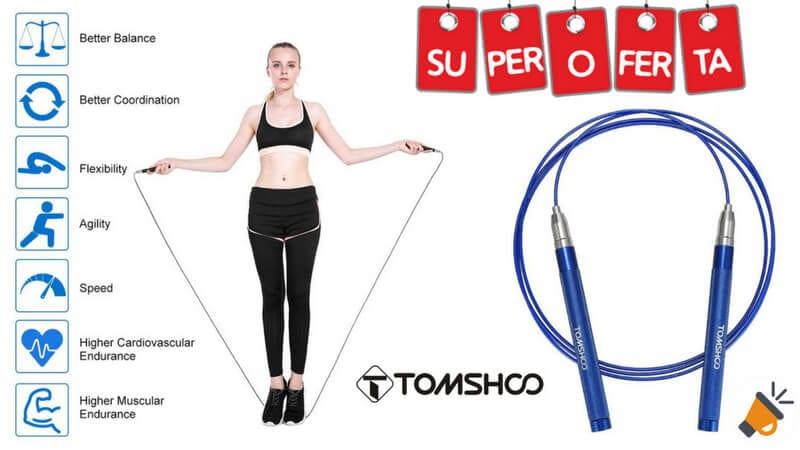 oferta cuerda de saltar ajustable tomshoo barata SuperChollos