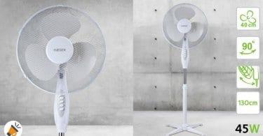 oferta HAEGER Cross Wind Ventilador de pie barato SuperChollos