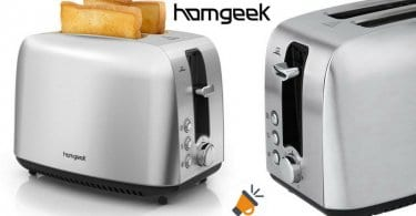 oferta Homgeek 2 Slice Tostadora barata SuperChollos