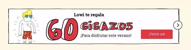LOWI GIGAS GRATIS SuperChollos
