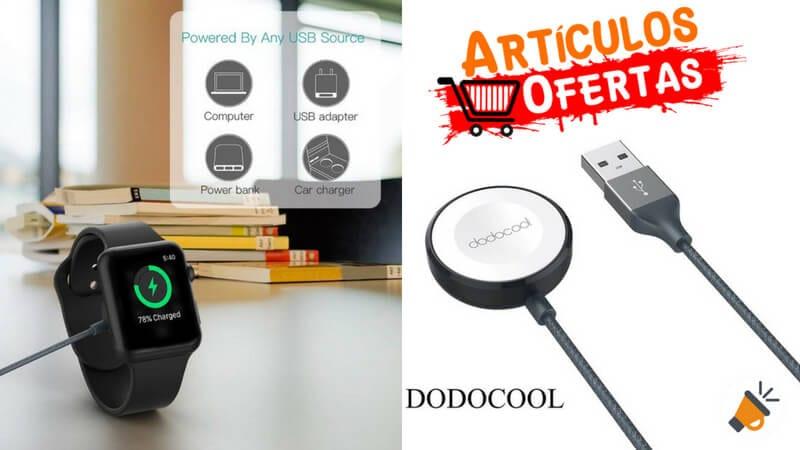 OFERTA Cargador Magne%CC%81tico MFI para Apple Watch dodocool barato SuperChollos
