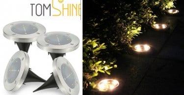 oferta Tomshine 4Pcs Energi%CC%81a Solar Powered barata SuperChollos