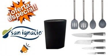 oferta Set de tacoma con 4 cuchillos San Ignacio Premium barato SuperChollos