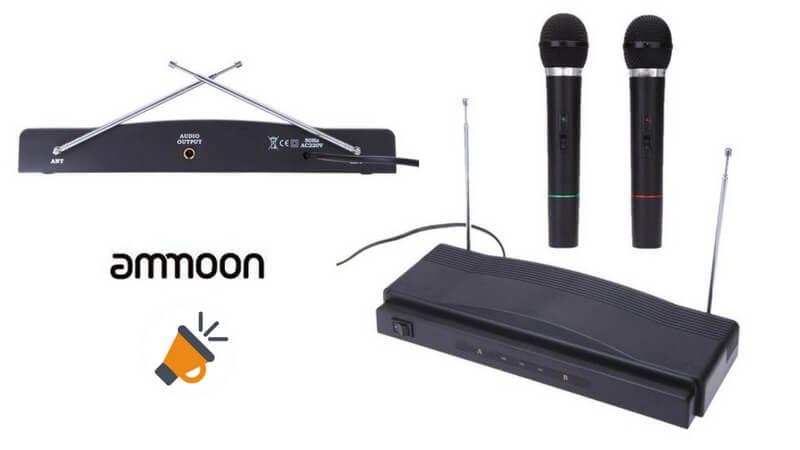 oferta sistema inalambrico microfonos receptor ammoon barato SuperChollos