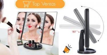 oferta HURRISE Espejo Maquillaje con luz barato SuperChollos