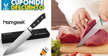 oferta Homgeek Cuchillo de Cocina de Acero de 20cm barato SuperChollos