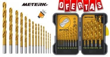 oferta Meterk MK22 14 Piezas Helicoidales Juego de Brocas barato SuperChollos