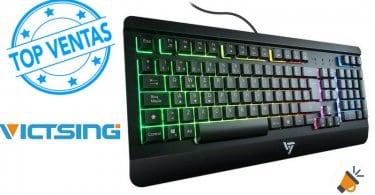 OFERTA VICTSING Teclado Gaming Espan%CC%83ol USB barato SuperChollos