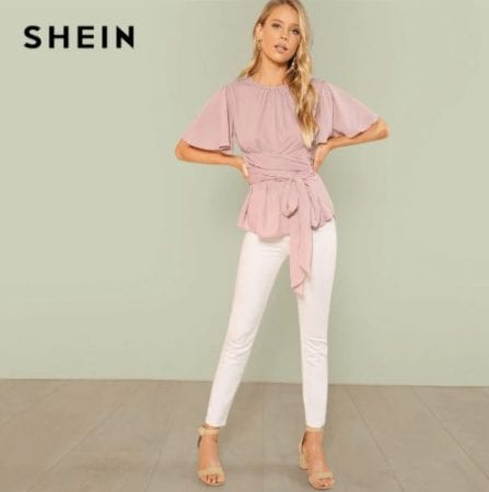 Blusa escote plisado SHEIN SuperChollos