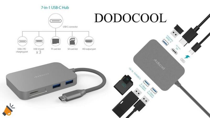 OFERTA dodocool Hub USB C 7 en 1 BARATO SuperChollos