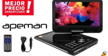 oferta APEMAN 10.5%E2%80%9D Reproductor de DVD Porta%CC%81til barato SuperChollos