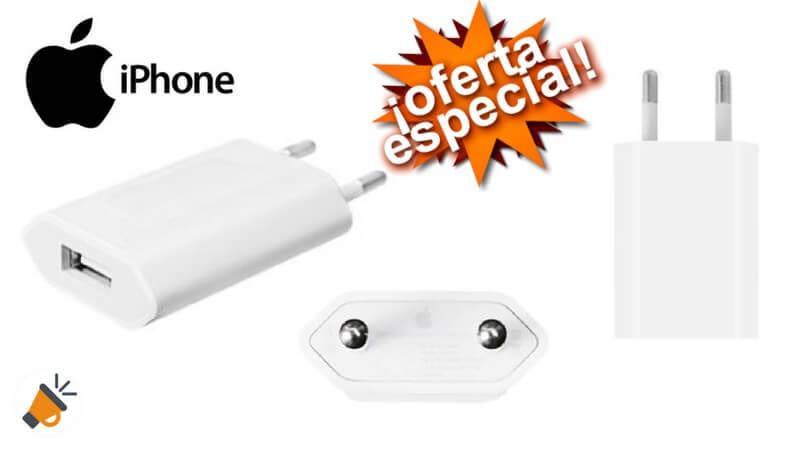 oferta Enchufe original cargador de pared USB 5W de Apple barato SuperChollos