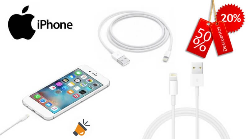 oferta Cable de carga para iPhone iPad iPod barato SuperChollos