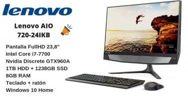 oferta Lenovo AIO 720 24IKB Ordenador de sobremesa barato SuperChollos
