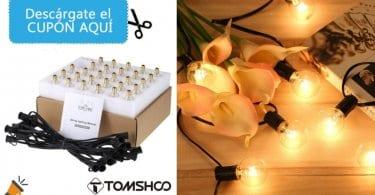 OFERTA Cadena de luz Tomshoo con 25 bombillas barata SuperChollos