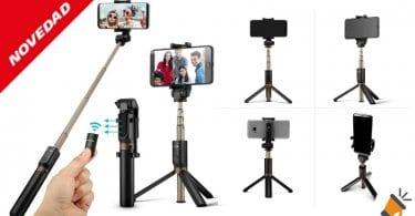 oferta Palo Selfie Tri%CC%81pode con Control Remoto barato SuperChollos