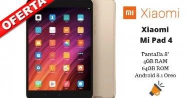 oferta Xiaomi Mi Pad 4 tablet barata SuperChollos