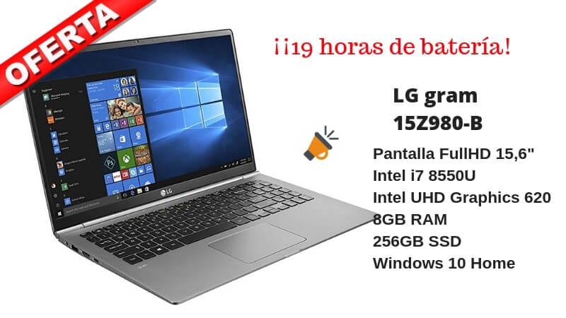 oferta LG gram 15Z980 B barato barato SuperChollos