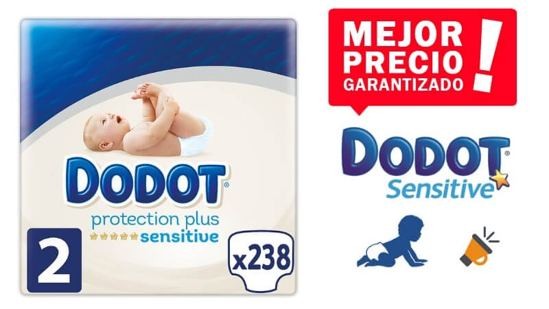oferta 238 Pan%CC%83ales Dodot Protection Plus Sensitive baratos SuperChollos