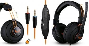 oferta Auriculares gaming Ovann X7 con micro%CC%81fono baratos SuperChollos