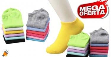 OFERTA Pack 10 calcetines tobilleros para mujer BARATOS SuperChollos