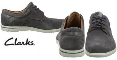 zapatos hombre clarks vennor walk ante gris baratos amazon SuperChollos