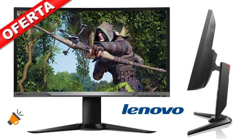 oferta Lenovo Y27g Monitor Curvado barato SuperChollos