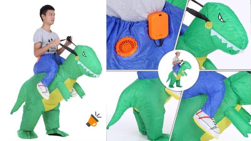 oferta disfraz de dinosaurio inflable barato SuperChollos