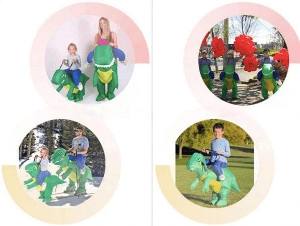 Disfraz de dinosaurio hinchable barato SuperChollos